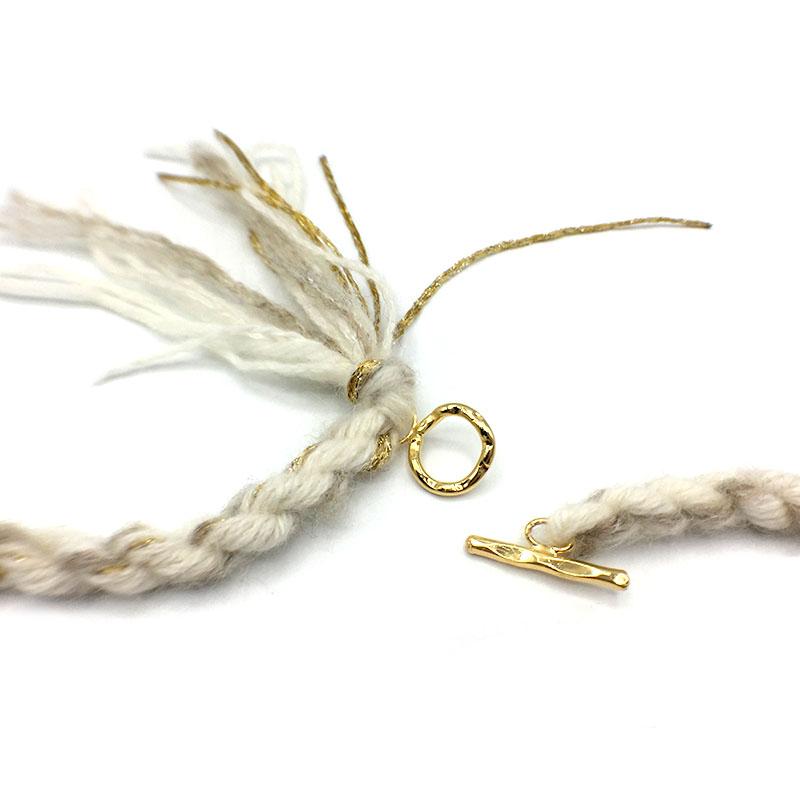 collana bianca lana