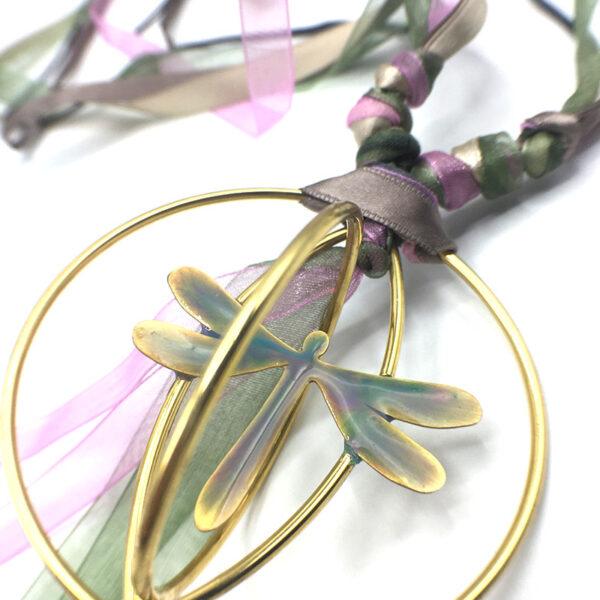 collana colorata libellula