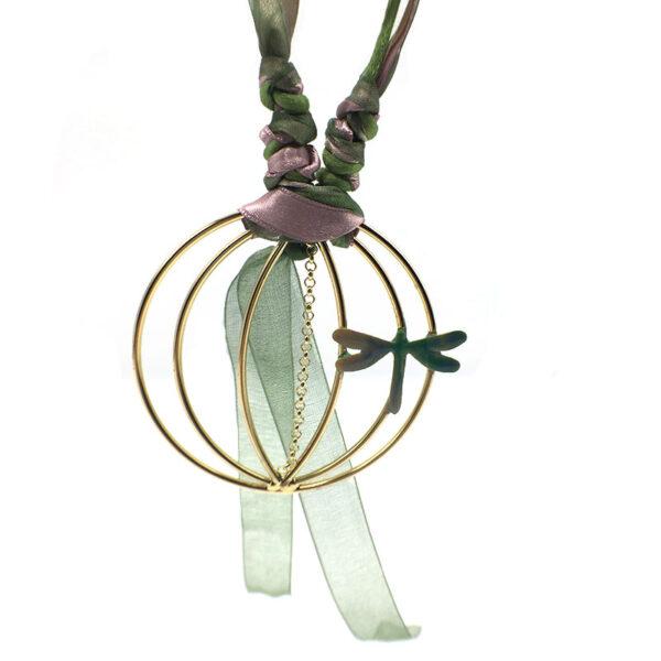 collana originale con libellula