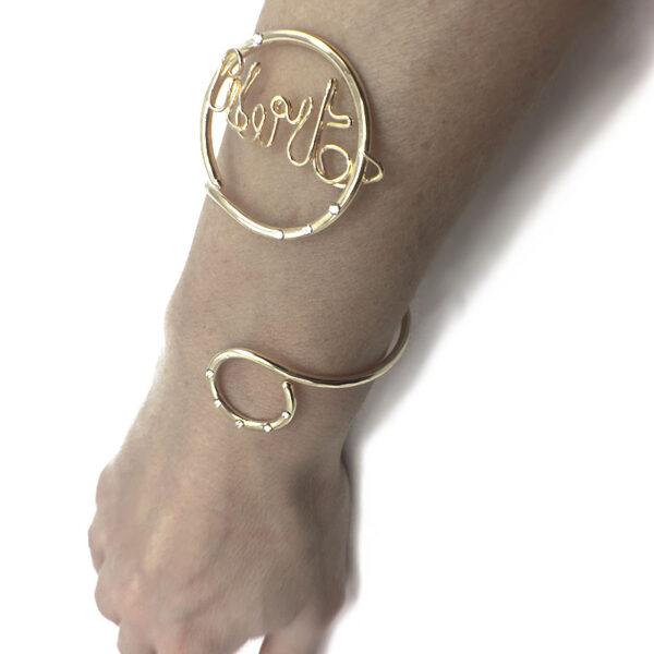 bracciale con scritta