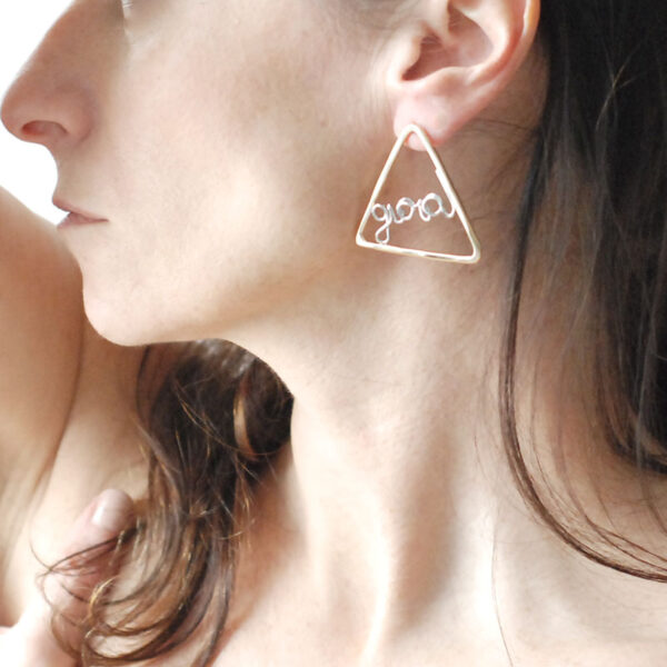 orecchini geometrici