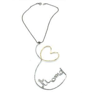 collana scritta ti amo